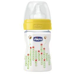 CHICCO Butelka do karmienia 150ml 0m+ silikon kolor żółty