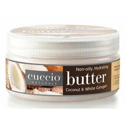 Cuccio COCONUT & WHITE GINGER BUTTER Nawilżające masło do dłoni, stóp i ciała (kokos i imbir)