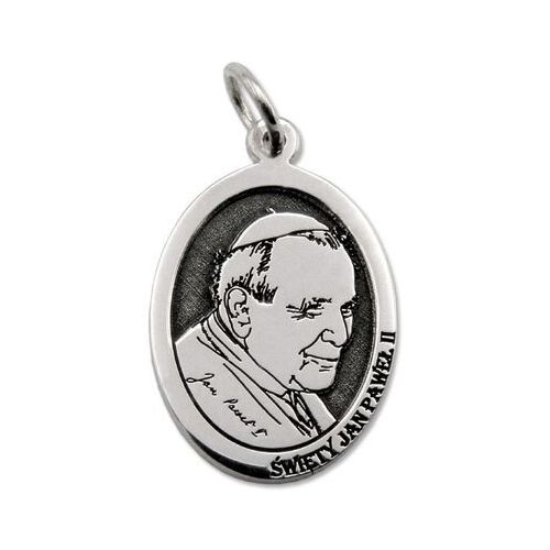 Pozostała biżuteria, Medalik srebrny z wizerunkiem ojca świętego jana pawła ii med-jp2-01