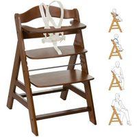 Krzesełka do karmienia, HAUCK Krzesełko do karmienia Alpha Plus walnut