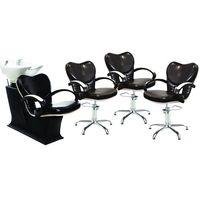 Meble fryzjerskie, Zestaw Clio Myjnia + 3 Fotele Ayala 48h