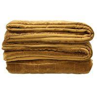 Narzuty, HKliving Miękka bawełniana narzuta na łóżko w kolorze brunatno-żółtym(230x250) TTS1004
