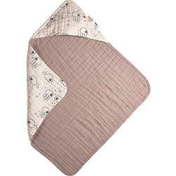 Ręcznik dziecięcy z kapturem sea różowy