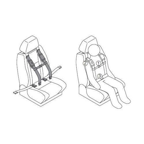 Pozostałe foteliki i akcesoria, Złączka piersiowa do pasów samochodowych dla niepełnosprawnych CAREVA CROSS IT dzieci, dorośli