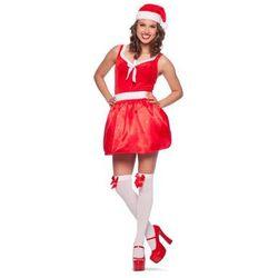 Kostium Pani Mikołaj z lampkami LED dla kobiety - Rozmiar L/XL