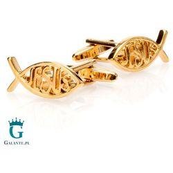Religijne spinki do mankietów w kolorze złotym X2 AJ155