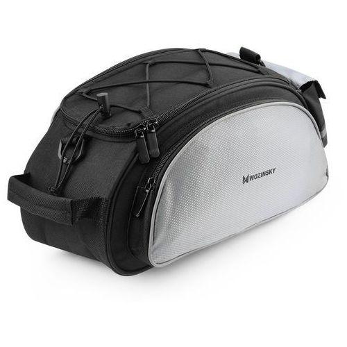 Sakwy, torby i plecaki rowerowe, Wozinsky Torba rowerowa na bagażnik z paskiem na ramię 13L czarny (WBB1BK)
