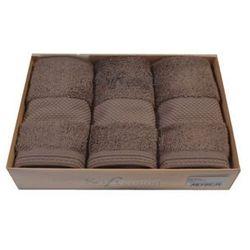 Zestaw podarunkowy małych ręczników DELUXE Brązowy