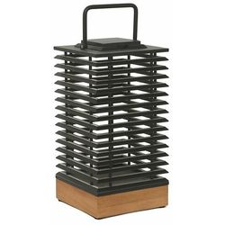 TEKURA-Lampa solarna 500 Lumenów Drewno/Beton Wys.45,5cm