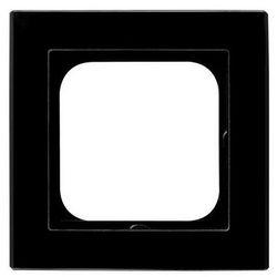 Ramka pojedyncza Ospel Sonata R-1RG/32 pozioma i pionowa szkło czarna