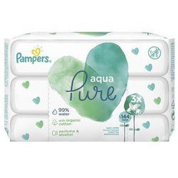 Chusteczki Pampers Aqua Pure 3x48- natychmiastowa wysyłka, ponad 4000 punktów odbioru!