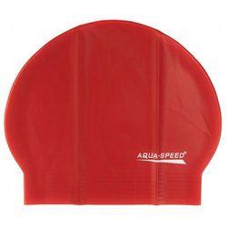 Czepek pływacki lateksowy Aqua Speed czerwony