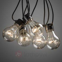 Łańcuch z LED LM, widoczne żarniki, ciepła biel