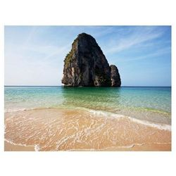 Fototapeta - Rock formation by shoreline, Andaman Sea, Thailand