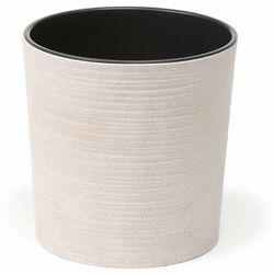 Doniczka plastikowa 19 cm biała MALWA