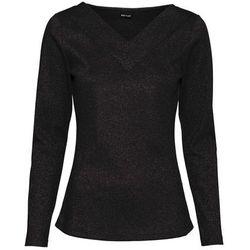 Shirt polo z lureksową nitką bonprix czarny