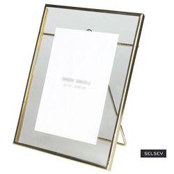SELSEY Ramka na zdjęcia Narn metalowa 20x25 cm złota