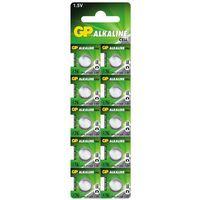 Baterie, 10 x bateria alkaliczna mini GP A76 / G13 / AG13 / L1154 / LR44 / 157 / V13GA / RW82