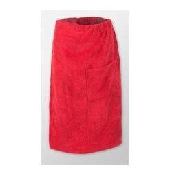 Sauna kilt ręcznik czerwony na rzep frotte