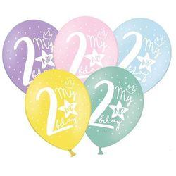 Balony pastelowe My 2nd bday mix kolorów - 30 cm - 50 szt.
