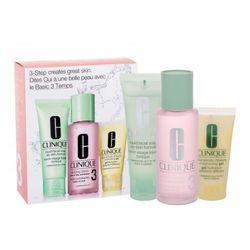 Clinique 3-Step Skin Care 3 zestaw 100 ml 50ml Liquid Facial Soap Oily Skin + 100ml Clarifying Lotion 3 + 30ml DDMGel (Dla cery mieszanej i tłustej) W