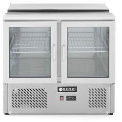 Stół chłodniczy przeszklony 2-drzwiowyz pokrywą uchylną, 900x700x888 mm | HENDI, 232743