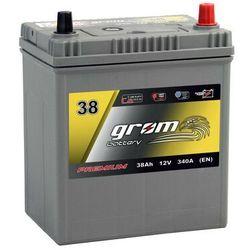 Akumulator GROM Premium 38Ah 340A EN Japan Prawy Plus DTR