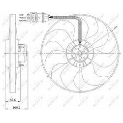WENTYLATOR CHŁOD NRF 47204 SKODA ROOMSTER/OCTAVIA/AUDI A3 1,0-1,9TDI 98-
