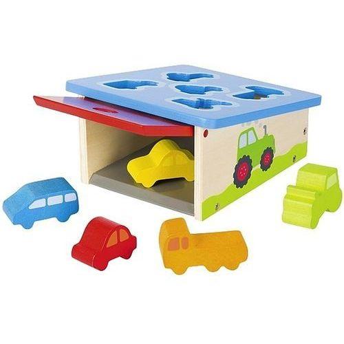 Zabawki z drewna, Drewniany sorter z autami Goki