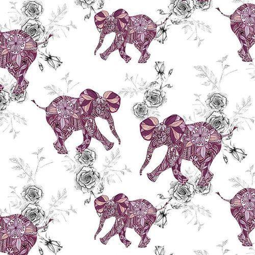 Pozostałe artykuły szkolne, Karnet kwadrat CL0401 Etniczne słonie