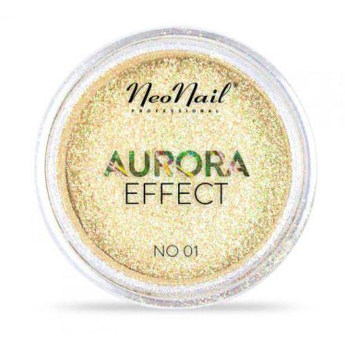 Ozdoby na paznokcie, NeoNail AURORA EFFECT Pyłek No 01 (Yellow)