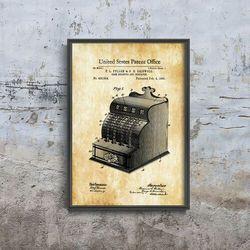 Plakat do pokoju Plakat do pokoju Kasa fiskalna Fuller & Griswold Patent USA