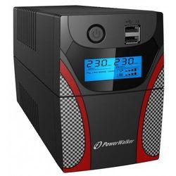 PowerWalker UPS Line-Interactive 850VA 2x PL 230V,RJ11 In/Out, USB, LCD, 2x ładowarka USB