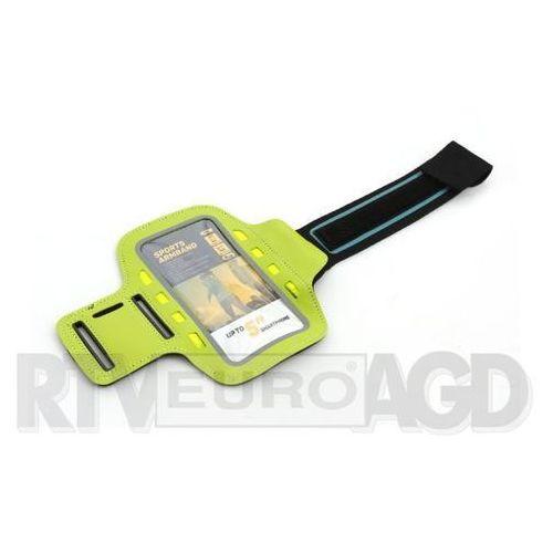 Etui i futerały do telefonów, Platinet Sports LED Armband 43707 (zielony)