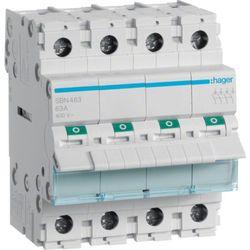 Hager Modułowy rozłącznik izolacyjny 4P 63A 400V SBN463