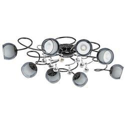 Plafon Eglo Ascolese 1 95161 oprawa sufitowa 8x2,5W G9 LED niklowany czarny