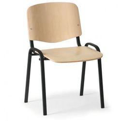 Drewniane krzesło ISO, buk, kolor konstrucji czarny, nośność 100 kg
