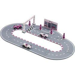 Zabawka tor wyścigowy kids concept różowy