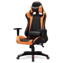 Champion fotel gamingowy dla graczy czarno-pomarańczowy