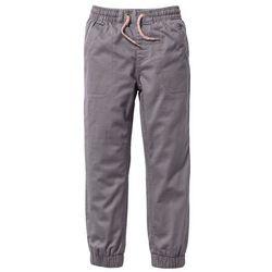 Spodnie chłopięce ocieplane z miękką bawełnianą podszewką bonprix dymny szary