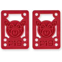 Pozostały skating, podkladki PIG WHEELS - Pileses 1/8in Hard Riser Red (MULTI) rozmiar: 1/8