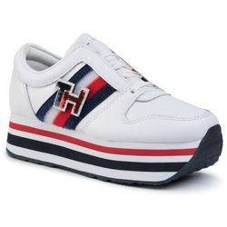 Sneakersy TOMMY HILFIGER - Tommy Customize Flatform Sneaker FW0FW04595 White YBS