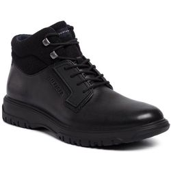 Trzewiki TOMMY HILFIGER - Cleated Outsole Leather Boot FM0FM02420 Black 990