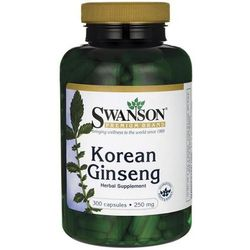 Swanson Żeń-szeń Koreański (Korean Ginseng) 250 mg 300 kapsułek