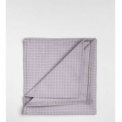Noak pocket square in mini grid check - Grey