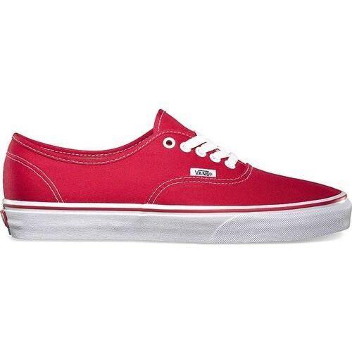 Męskie obuwie sportowe, buty VANS - Authentic Red (red) rozmiar: 34.5