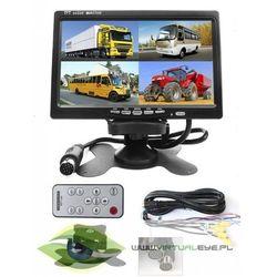 """Monitor LCD 7"""" cztero-kanałowy z podziałką Quad 7"""