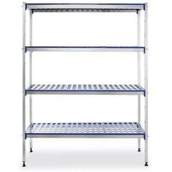 Regał magazynowy aluminiowy z możliwością rozbudowy | 1280x405x(H)1685mm