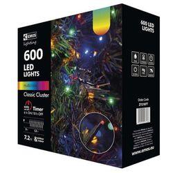 EMOS łańcuch świąteczny LED, zewnętrzny, 12 m, wielokolorowy, timer
