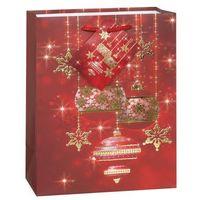 Opakowania prezentowe, Torebka prezentowa ze wzorem świątecznym S 23x19 cm- 1 szt.